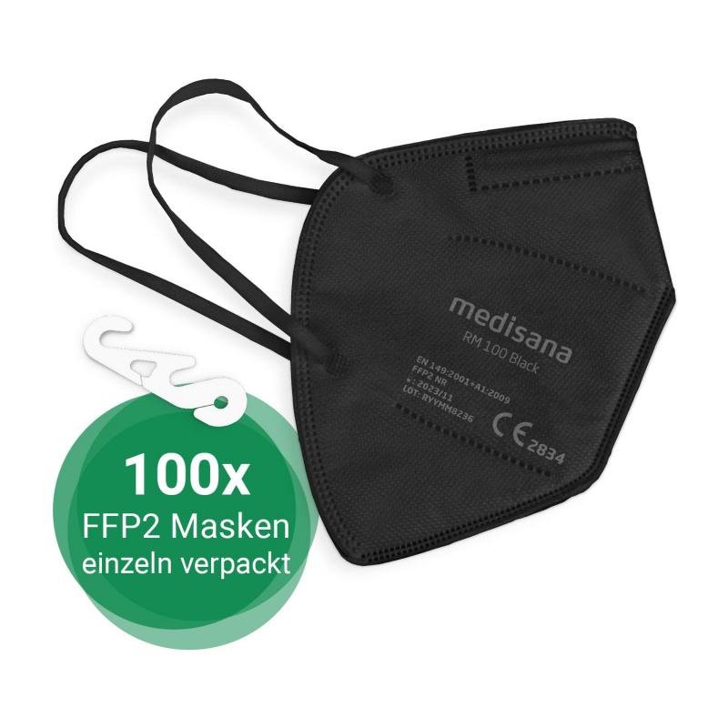 RM 100 black | FFP2 Particle filtering half mask